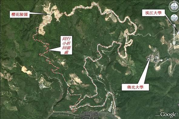 櫻花陵園位置空照圖