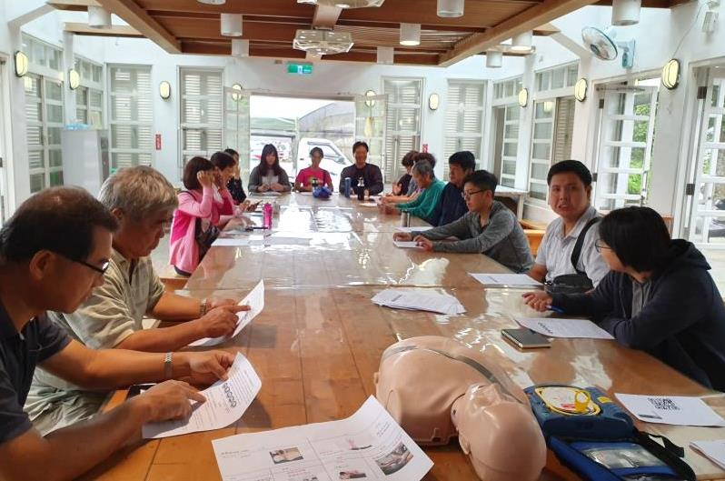仁山植物園教育訓練:CPR+AED心肺復甦術+自動體外心臟電擊去顫器訓練