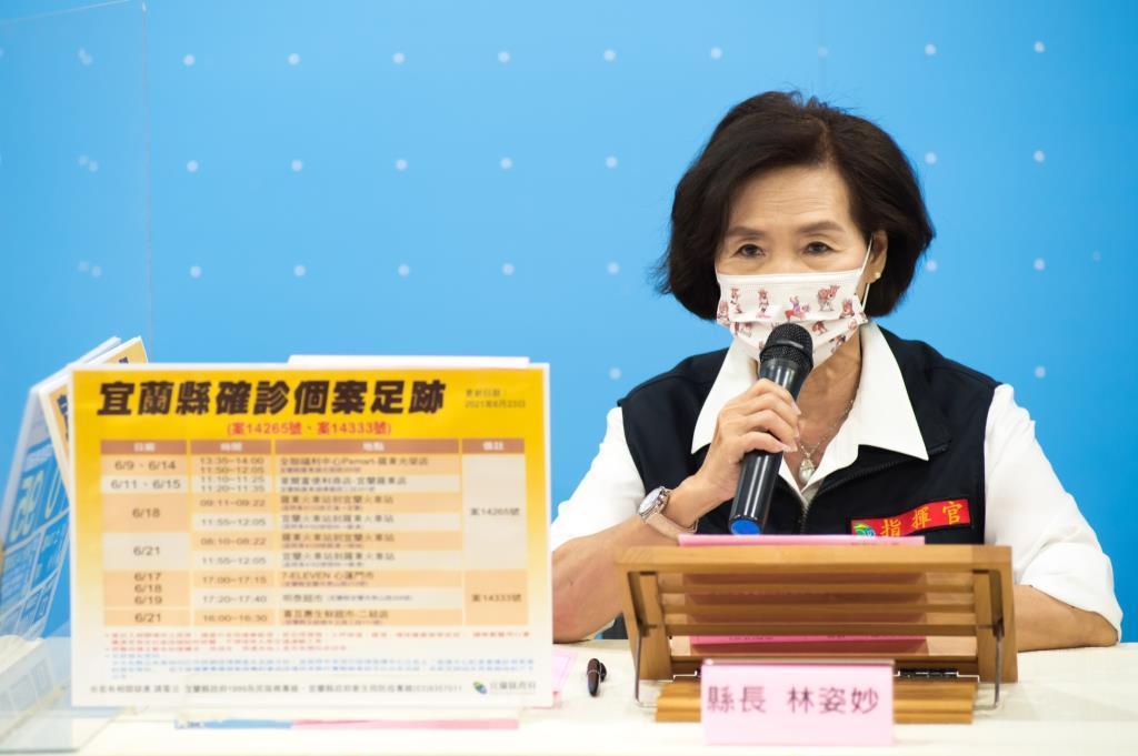 林姿妙縣長表示,全國三級警戒延長至7月12日,請民眾務必遵守相關防疫作為,不可掉以輕心。